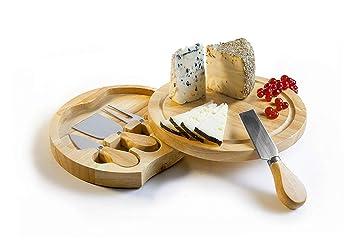 Tabla de quesos redonda con cajón deslizable Tabla de cortar ...