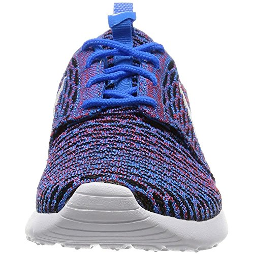 Nike Frauen Roshe One Flyknit Laufschuhe Weiß Blau