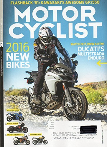 Motorcyclist February March 2016 Magazine FLASHBACK for sale  Delivered anywhere in USA