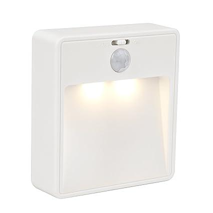 Jeswell Wireless Motion Sensor Light Battery Powered Led Night Light