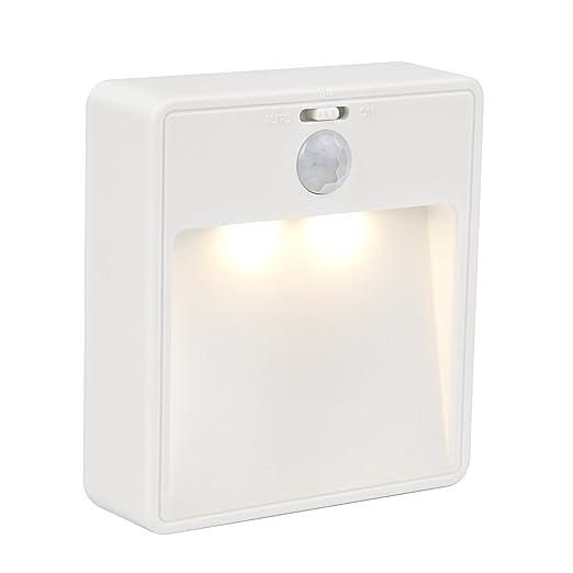 JESWELL Luce LED Batteria con PIR Sensore di Movimento, Luce Parete Notte  Lampada con Interruttore per Armadio Scale Corridoio Cucina Comodino, ...