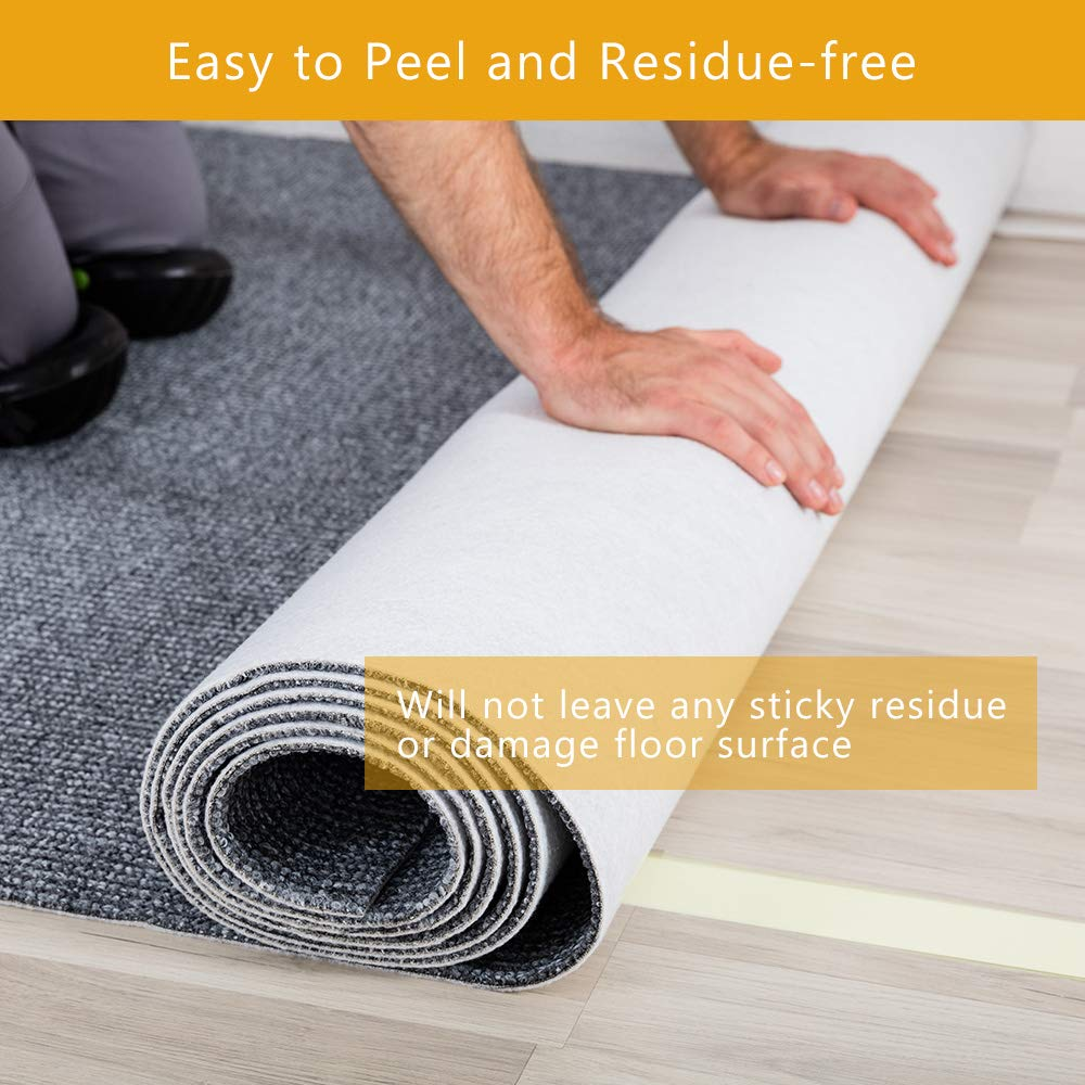 Carpets Mats Pads Double Sided Carpet Tape with Strong Sticky Anti-Slip Heavy Duty Rug Tape for Area Rugs Stair Treads 3Inch x 20Yards Runners