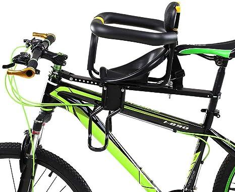 KUANDARMX Seguro Sillín Infantil para Bicicleta Delantera, Asiento para Niños, Plegable para Bicicleta de Montaña, Bicicleta Híbrida y Bicicletas de Fitness, para Bicicleta de Montaña Presente: Amazon.es: Deportes y aire libre