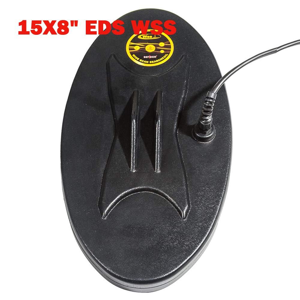 DETECH EDS WSS - Bobina para detectores de Metales Fisher F75, F75+, F75 LTD y F70 con Protector de Bobina Incluido (38 x 20 cm): Amazon.es: Jardín