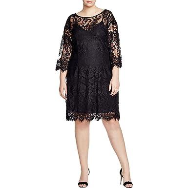 Bb Dakota Womens Plus Size Candy Lace Dress In Black 20 At Amazon