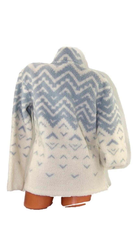 Victoria's Secret PINK Pullover Sherpa Boyfriend Geometric Sweater ...
