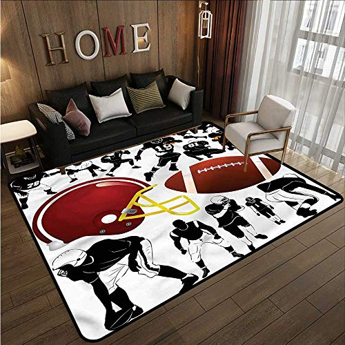 Kids Rug Sports Football Champions League Extra Large Rug 5'10
