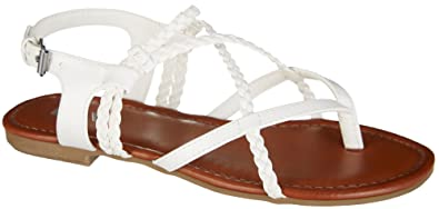 3bc9d3aee7abc7 Image Unavailable. Image not available for. Color  Mia Womens Dannie  Sandals 8.5 White