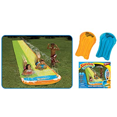 Wham-O Slip N Slide 16 ft Wave Rider Double Water Slide with 2 Slide Boogies (For Ages 5-12.): Toys & Games
