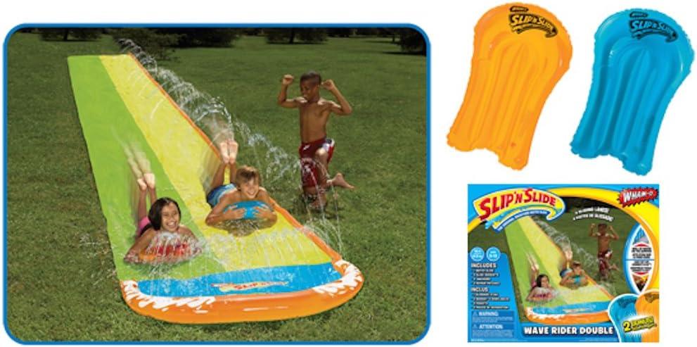 Surf Rider Slip N Water Slide 16 Ft Slide Double Splash outdoor kidsTOY NEW