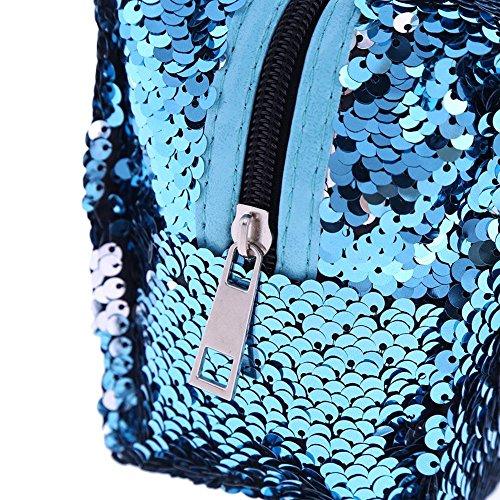Cosmetic Gorgeous AFfeco Bag Women Zipper Glitter Clutch Mini Travel Sequin 4 Makeup wwYHqtp