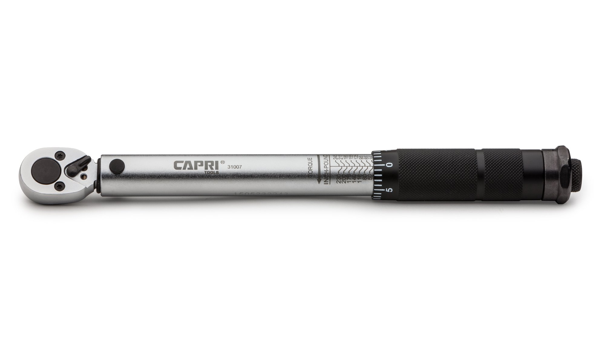 Capri Tools 31007 20-245 Inch Pound Torque Wrench, 1/4-Inch Drive by Capri Tools