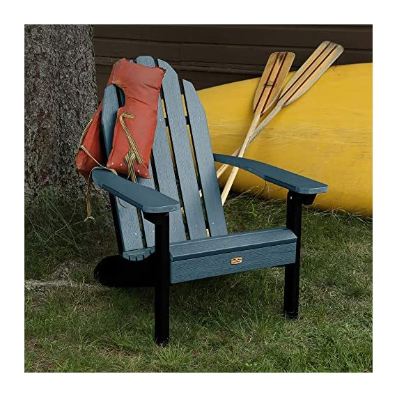 Elk Outdoors EO-CLAS1-SHL The Essential Adirondack Chair, Shale - Proudly and 100% Made in the USA from our own unique synthetic wood in an environmentally-conscious facility Water and weather resistant 500-pound weight capacity - patio-furniture, patio-chairs, patio - 613dK5e7ZCL. SS570  -