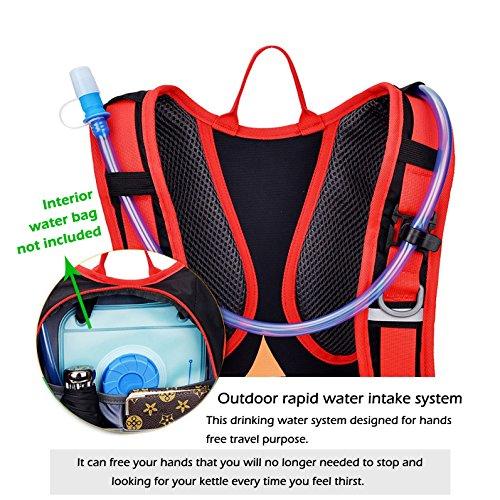 uomere 18L Wasserdicht Outdoor Sport Reisetasche Nylon Riding Schultern Rucksack (orange)