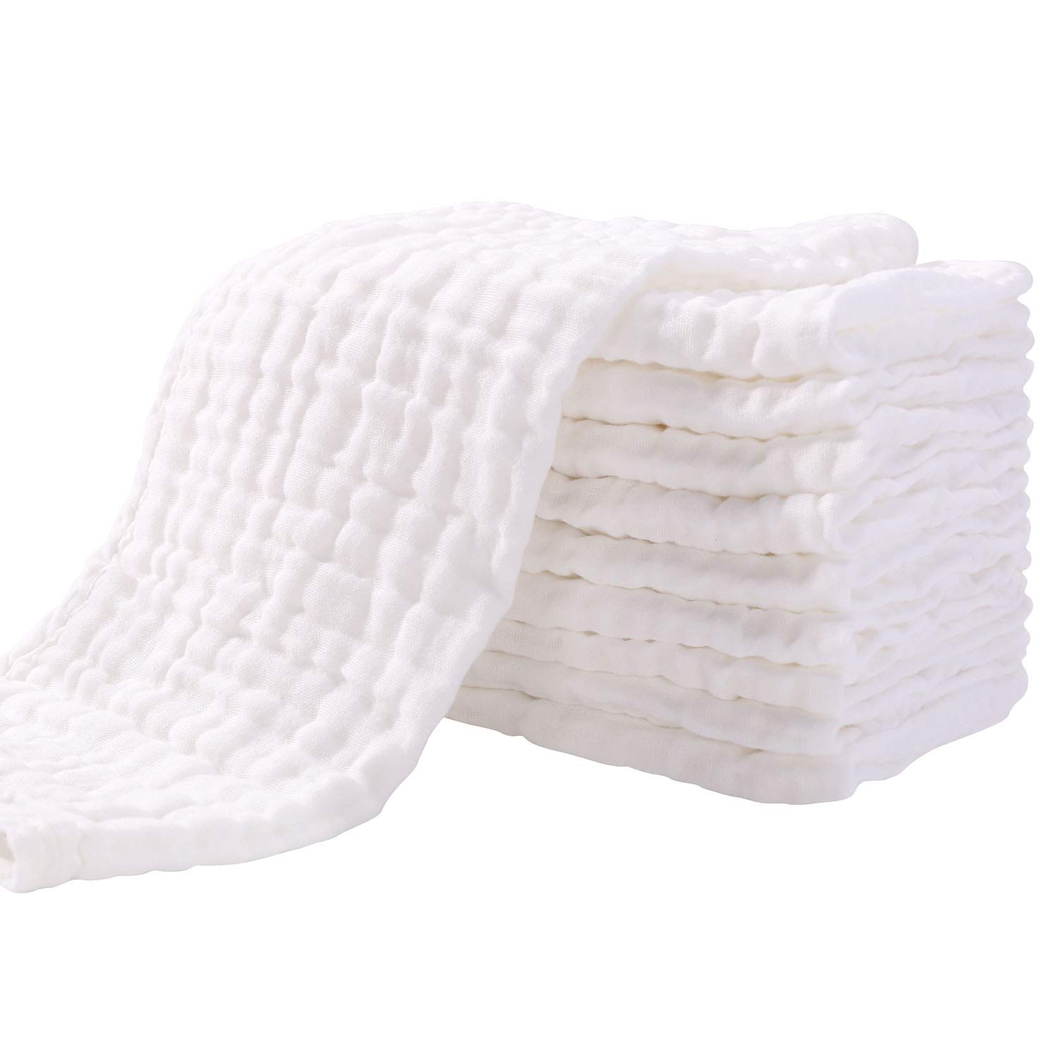 Soft muslin facial cloths