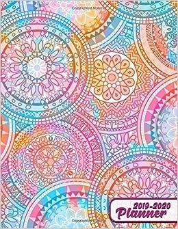 2019-2020 Planner: Cute Spiritual Mosaic Mandala Daily ...