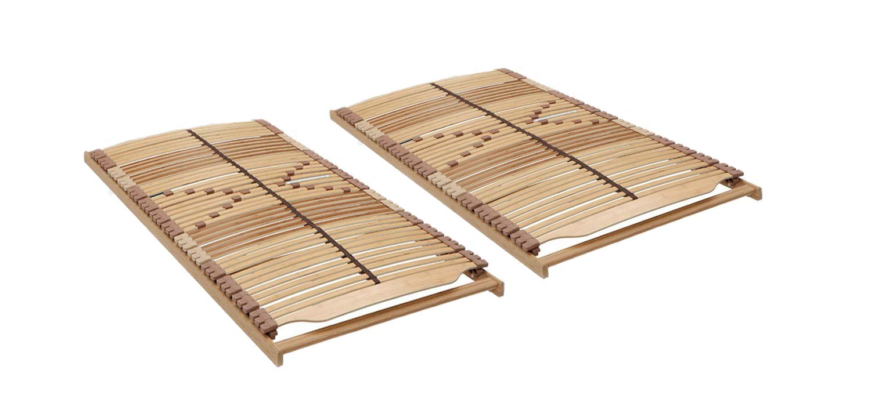 Panda-Greenline XL Lattenrost-Set in 200 x 200 cm – bestehend aus 2 x Lattenrost 100 x 200 cm