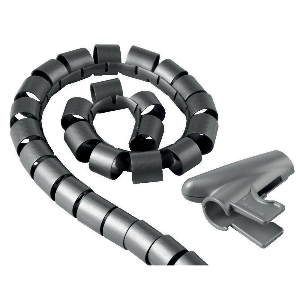 Electraline 60628 Organizador cables (clip 25 mm, 1,8 m) color plateado
