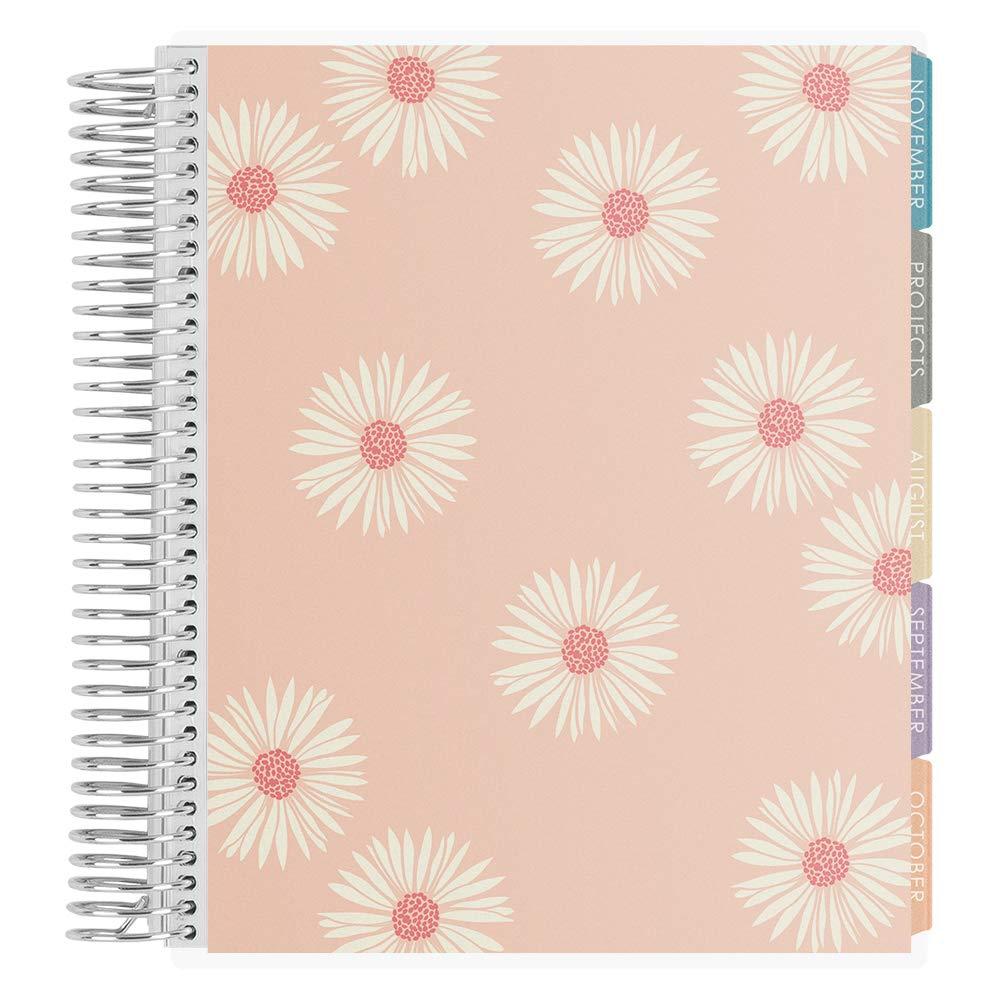 Erin Condren 12-Month Academic Planner (August 2019 - July 2020) - Daisies (Cherry Blossom/Salmon)