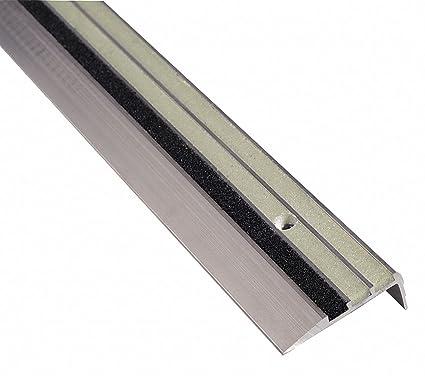 Photoluminescent, Aluminum Stair Tread Cover, Installation Method