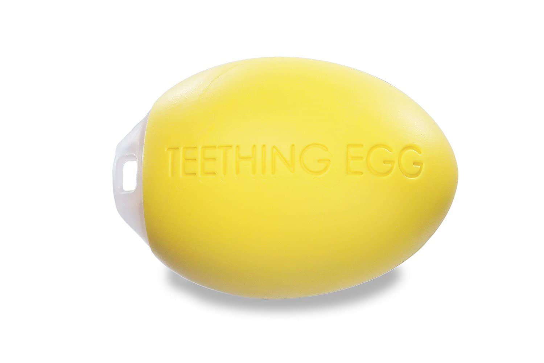 Amazon Com The Teething Egg Soft Yellow Teether 4 Colors