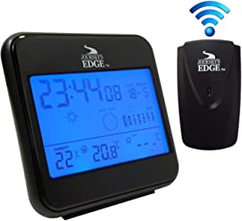 Journeys Edge Wireless Weather Station Outdoor Temperature with Built-In Alarm Clock