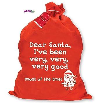 Regali Di Natale Inglese.Sacco Di Babbo Natale Per Regali Di Natale Con Scritta In