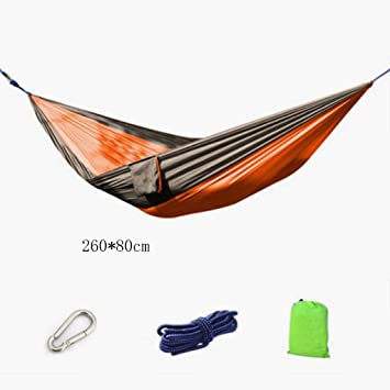Medium image of hammock outdoor hammock camping hammock swing leisure camping parachute nylon cloth hammock portable hammock 260