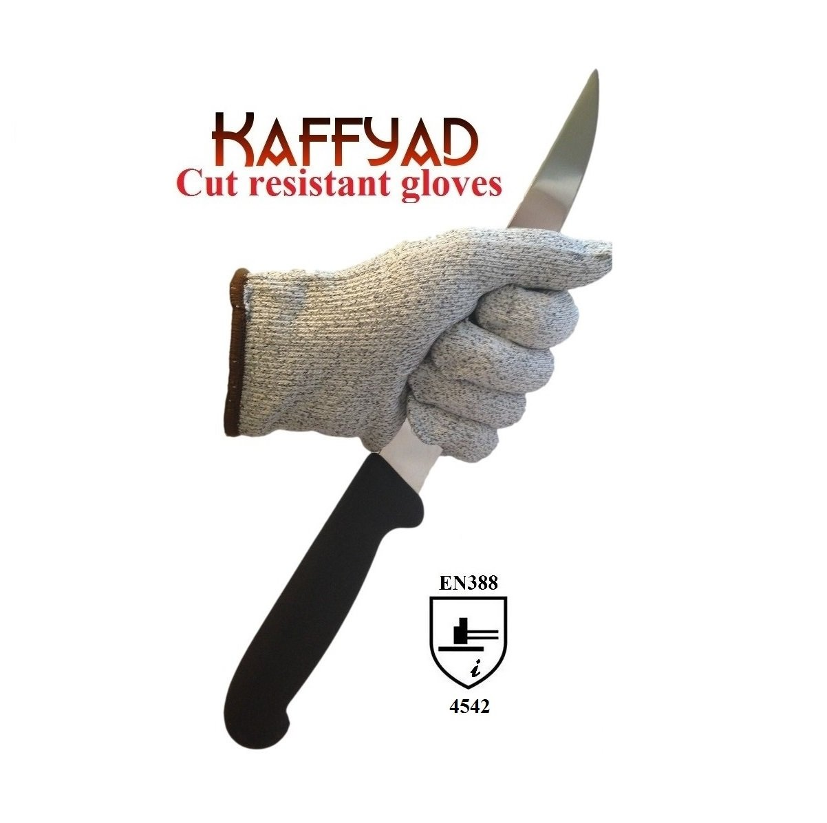 Kaffyad Level 5 Cut Resistant Kitchen Gloves, Small - 2 Gloves (1 Pair)