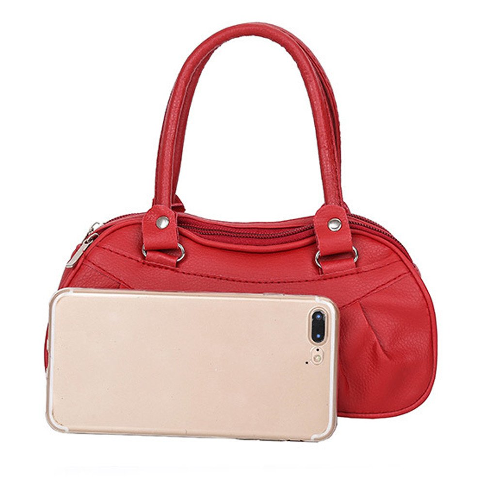 b575e0c9a8 COOKI Womens Purses and Handbags Ladies Pure Color Fashion PU Leather  Simple Retro Crossbody Handbags Designer Satchel Tote Bag Shoulder Bags on  Sale ...