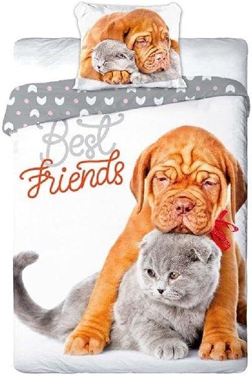 Best Friends - Juego de sábanas para cama individual, funda ...