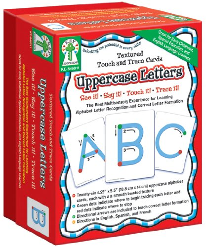 (Carson-Dellosa Key Education Textured Touch and Trace: Uppercase Manipulative (846011))