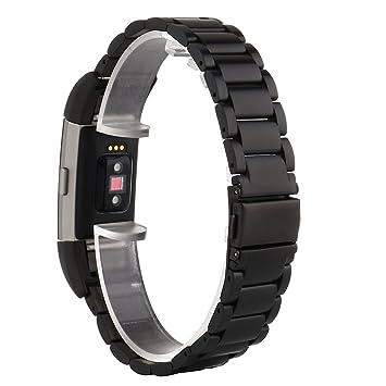 Fitbit Charge 2 Correa, PEMOTech [Lujo, durabilidad, clásico] Pulsera ajustable de