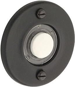 Baldwin 4851190 Round Bell Button, Black