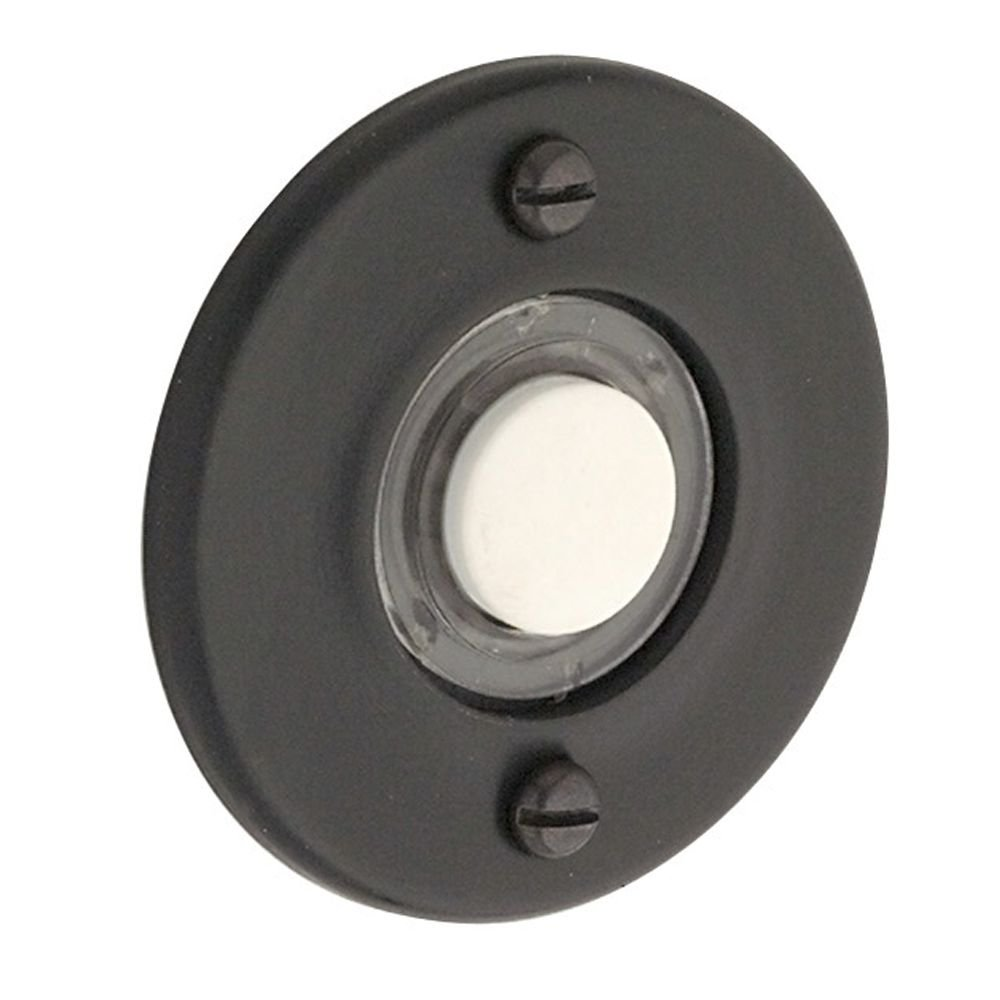 Baldwin 4851190 Round Bell Button, Black