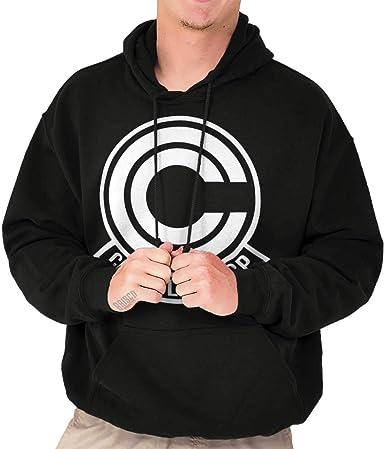 Cool Nerdy Geeky Goku Vegeta Anime Alien Ninja Symbol Hooded Sweatshirt