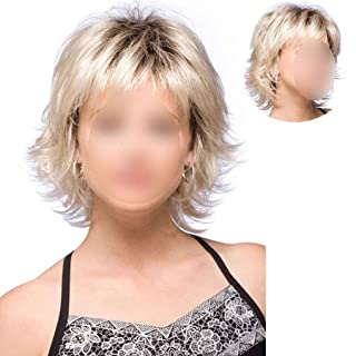 fgyhty Sintetico breve parrucca Biondi Lisci per le donne Corti d'oro dei capelli afro parrucche parrucca piena Bob