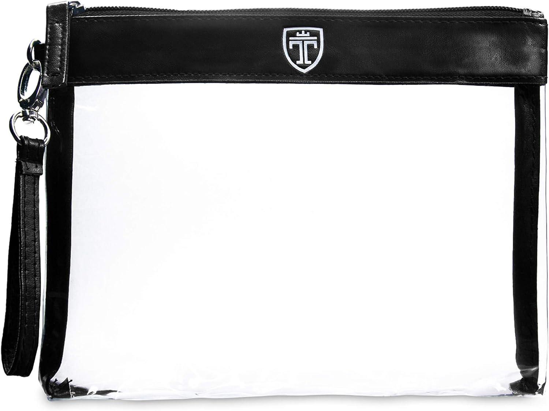 TRAVANDO ® Neceser transparente - 1l de capacidad - bolsa para llevar líquidos y cosméticos, equipaje de mano para el avión, botella set de viaje - hombre, mujer, unisex