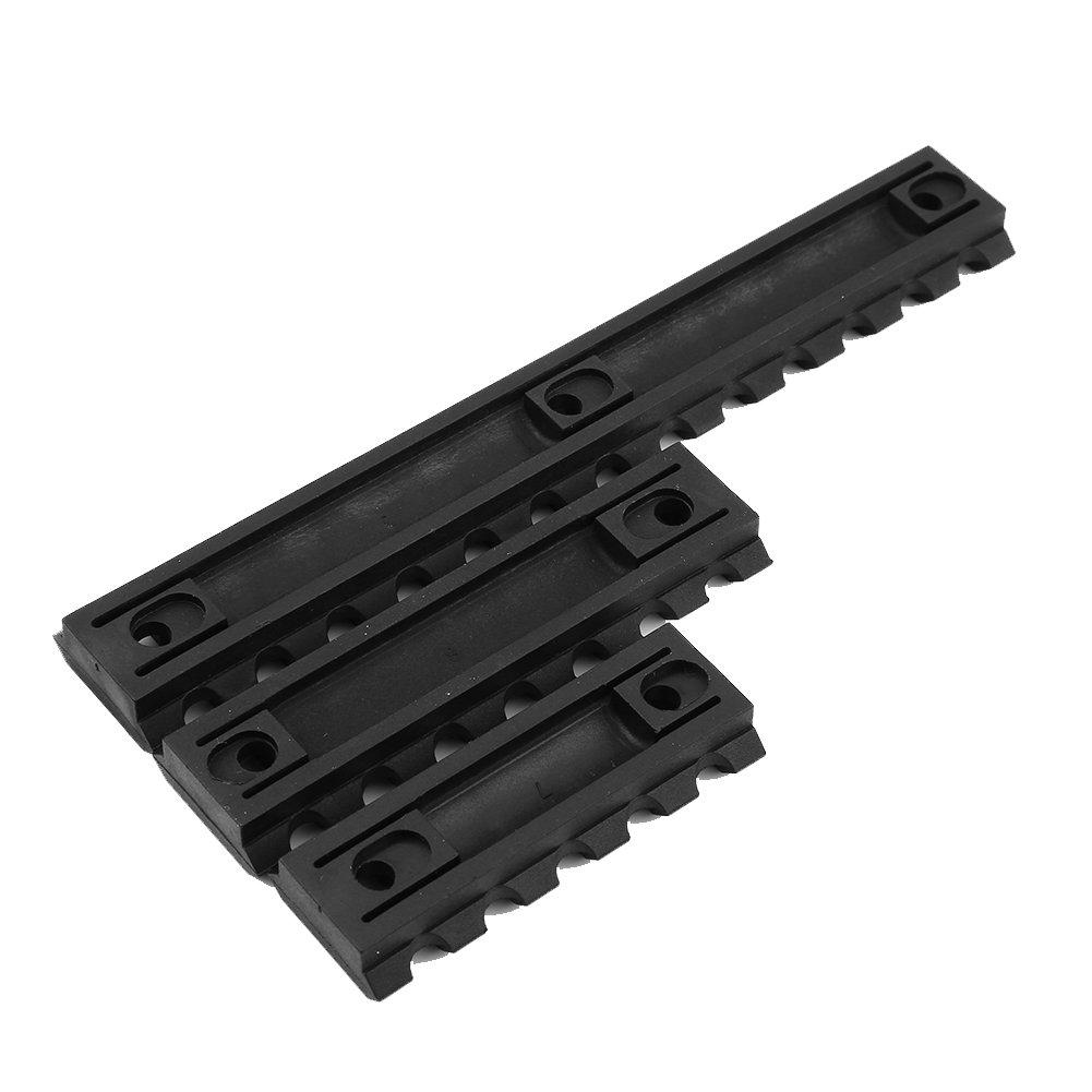 VGEBY1 Set Picatinny Rail Tactique /à Chasse ,Ensemble de 3 Rails en Plastique ABS 2 Pouces 3 Pouces 5 Pouces