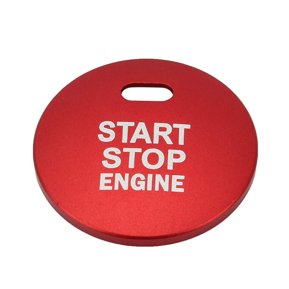 SENZEAL Ignition Button Switch Cover Aluminum Alloy Car Start Stop Engine Button Cap Patch Button Sticker Red for CX-4 CX-5 ATENZA