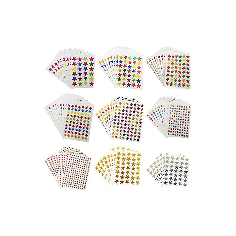 kenkio-8270-count-colorful-star-stickers