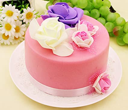 Amazon Skyseen 6 Artificial Food Fake Birthday Cake Model
