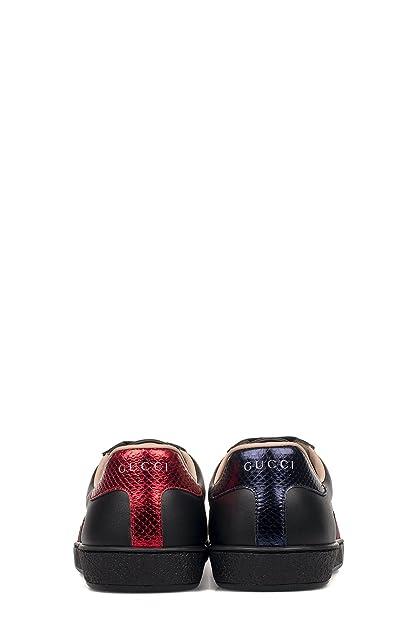 69b6ae447 Gucci Hombre 429446A38G01284 Negro Cuero Zapatillas: Amazon.com.mx: Ropa,  Zapatos y Accesorios
