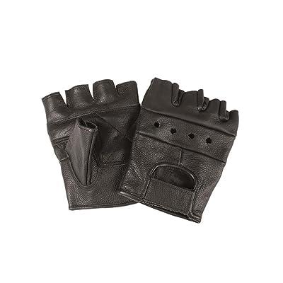 Biker fingerlinge sans rivets noir taille s