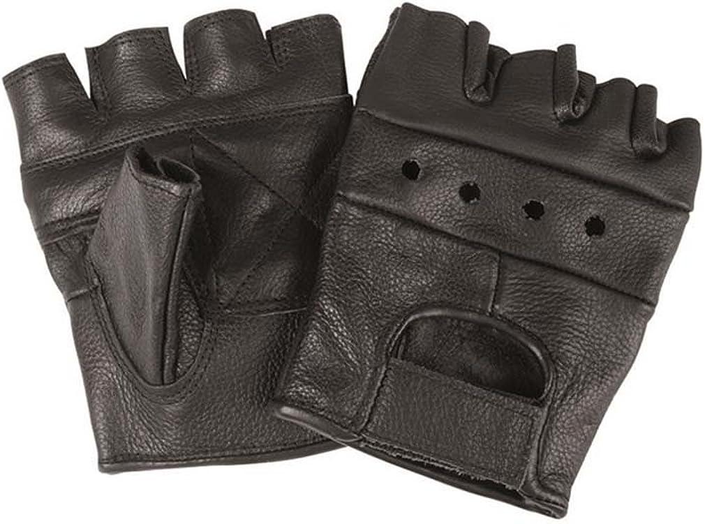 Mil-Tec Guantes de cuero sin dedos