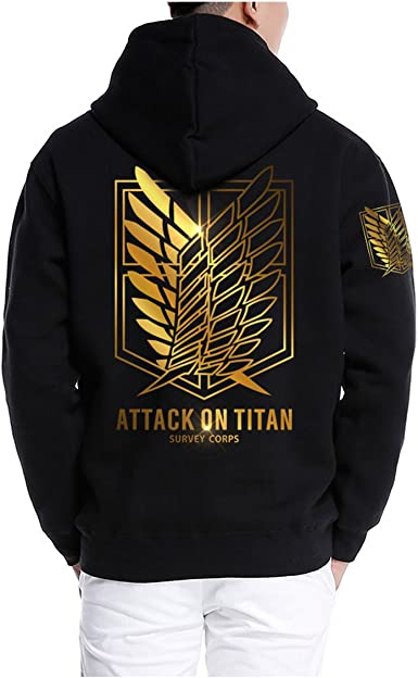 Pulle-A Attack On Titan Shingeki No Kyojin Survey Corps Eren Halloween Cosplay Hoodie