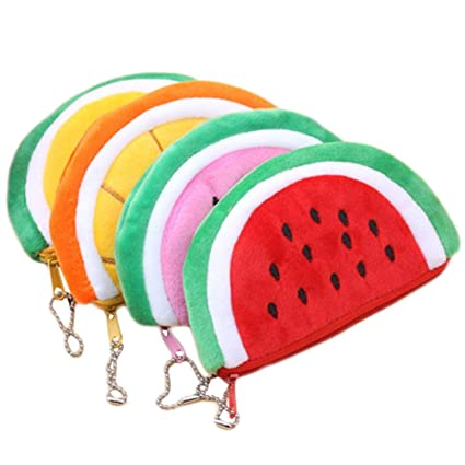 BIGBOBA 4 pcs Mini Monederos para Mujer Forma de Fruta Lindo ...