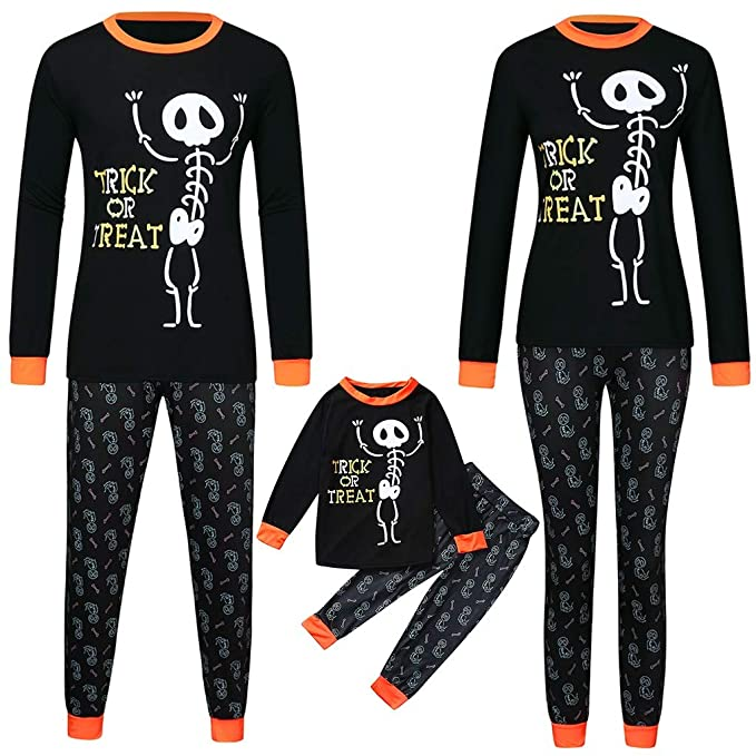 Skeleton Family Halloween Costumes.Amazon Com Beppter Halloween Family Pajama Set Costumes
