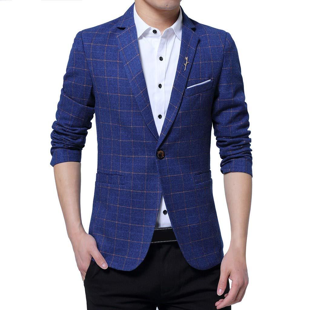 FRAUIT Trajes para Hombre Elegante Clásica Vintage Blazer Chaqueta ...