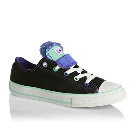 ac9129b5c48 Image Unavailable. Image not available for. Colour  Kids Girls Converse  Multi Tongue Black Multi - 12